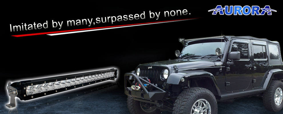 AURORA top-end 40 inch 400w double row off road light ,tailgate led bar