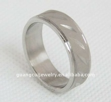 cheap wholesale men stainless steel ring bone carving rings