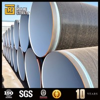 coated spiral epoxy coated steel pipe/Inner Epoxy Paint Lined Steel Pipe/ corrosion prevented steel pipe for oil transfer