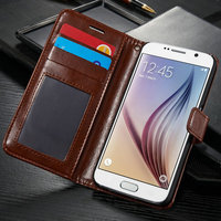 New Mobile Phone Flip Credit Card Phone Case For Sumsung S6 With Stand Function'Flip Credit