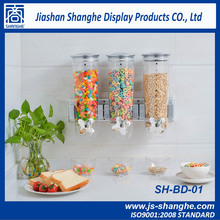 Hot sale Wall mounted bulk food cereal dispenser