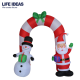 2018 High Quality Christmas Inflatable Santa Claus Snowman Arch Decoration