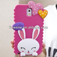 FL3202 2013 Guangzhou new product rabbit silicone phone cover case for samsung galaxy note 3 n9000