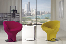 Special design creative armchair ingenious upholstery Y shape swivel living chair