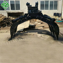 excavator hydraulic grapple wood log clamp