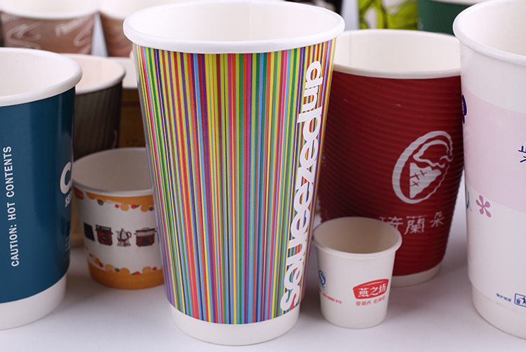 Disposable China Wholesale 16 oz Double Wall Hot Drinking Paper Cups