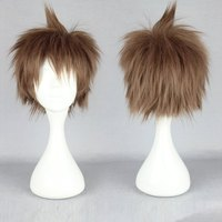 2014 Fashion Style Japanese The broken 2 projectile Day to record cosplay short hair wigs wholesale