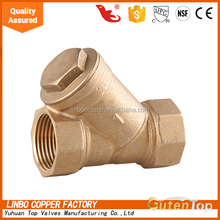 "1/2"" YuHuan linbo copper spring loaded dualplate check valve good quality brass no return swing check valve 6 inch"