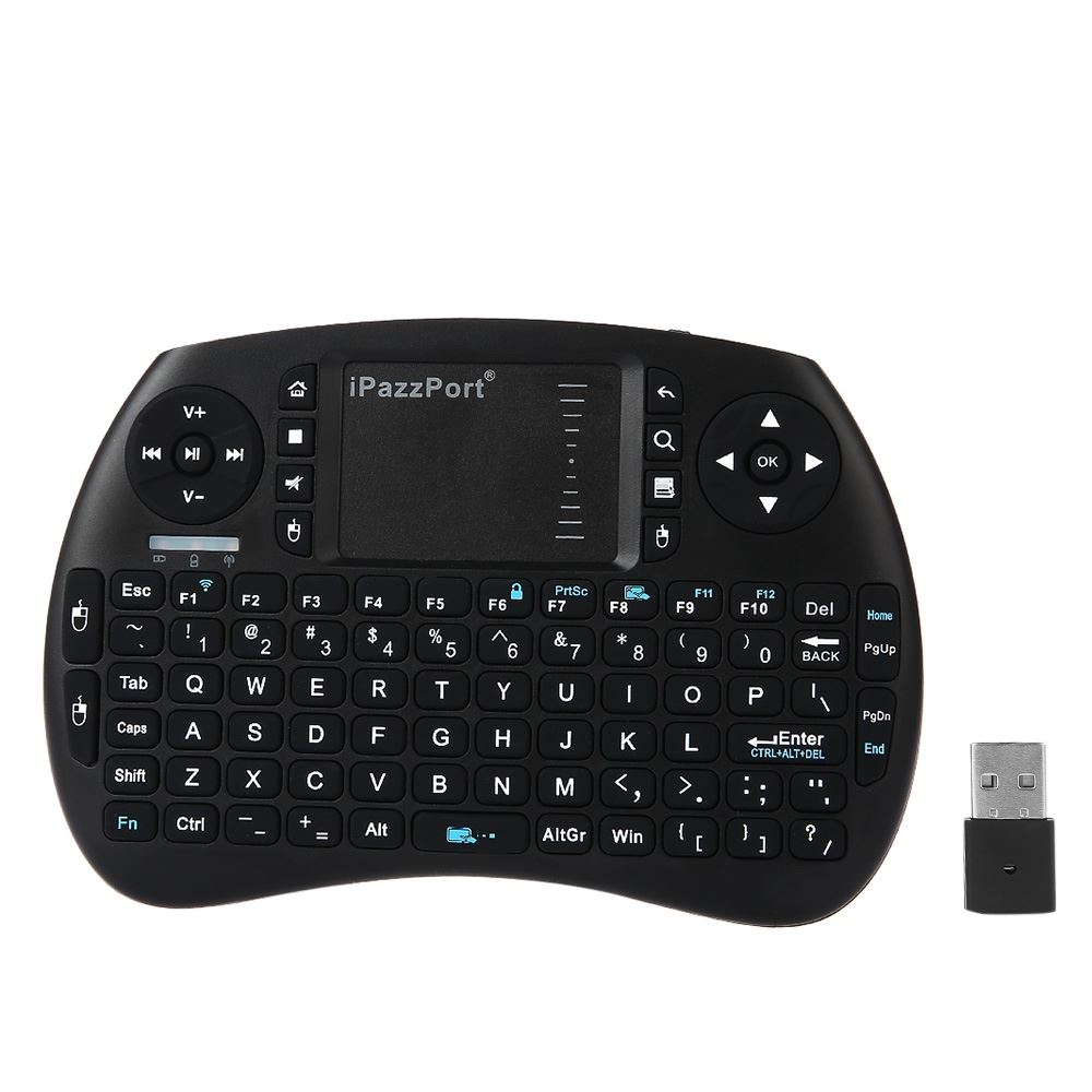 iPazzPort Air Mouse Keyboard KP-810-21S 2.4GHz RF Mini Wireless Multifunctional Computer Smart Phone Hand-held Keyboard TV Box