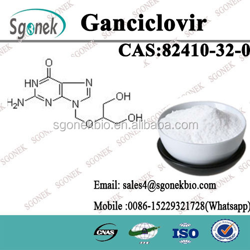 98% High Purity Ganciclovir for preventing CMV Infection USP/CP/ISO/GMP