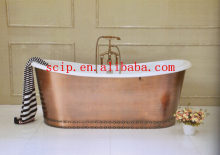 hot sale cast iron bateau bathtub with skirt