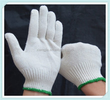 2014 overstock 100% Cotton String Knit cotton Gloves ,goalkeeping gloves