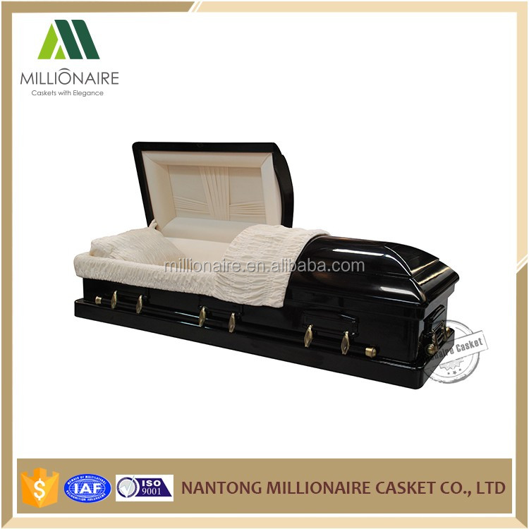 Wholesale high gloss affordable wooden veneer casket