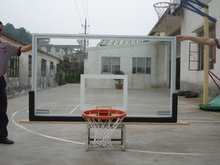 12mm Tempered Glass Basketball backboard price, custom backboards and breakaway rings with two springs