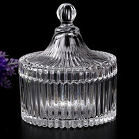 glass candy jar wholesale handmade glass sugar bowl with lid