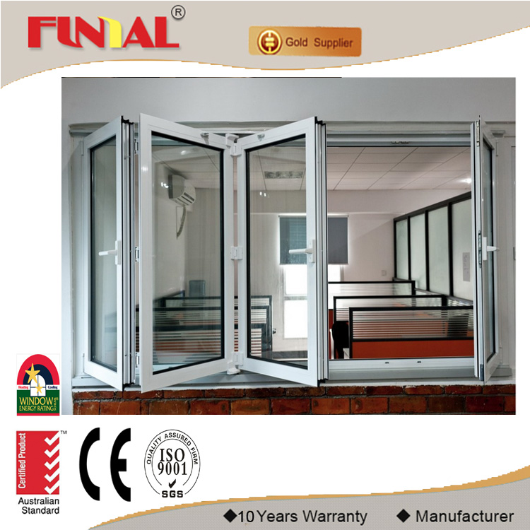 Alibaba china market used commercial aluminum glass bifolding windows to sell