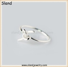 Absolutely unique wire kont design s925 material cheap sterling silver ring - Personalized unisex handmade rings wholesale