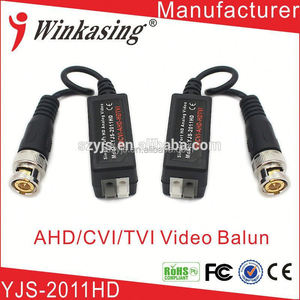 HDTVI/HDCVI/AHD-manufacturer direct simple installation video balun for cctv poe baluns