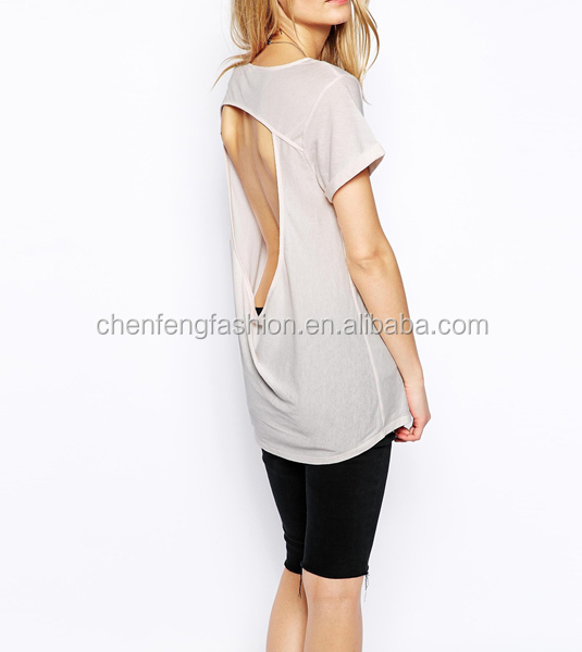 CHEFON Jersey backless tops