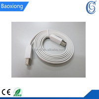 USB Type A Male to Type B Male Flat Cable Colorful Noodle Flat Cable USB Data Cable