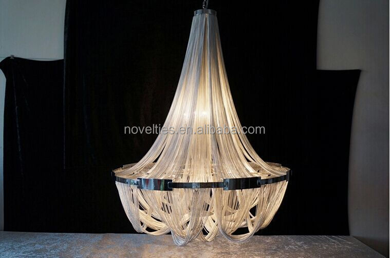 Hot Sell Luxury Hotel interior Modern Chandelier light, Chain chandelier