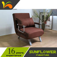 China manufactured folding practical modern single folding bed recliner chair bed