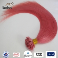 Unprocessed cheap wholesale pink u tip human hair