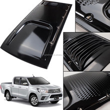 Car Body Kit Matte Black Hood Bonnet Scoop Vent With Nuts For New Hilux Revo