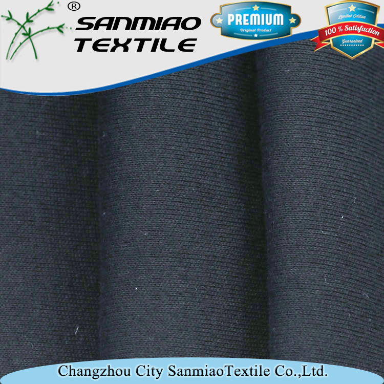 220g 100cotton indigo rib no stretch denim cuffs fabric