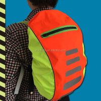 2016 Hot Sale Fluorescent High Visible Waterproof Cycling Safety Reflective Backpack Cover