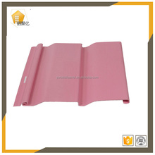 1.1mm thinkness girl's house pink vinyl siding pvc wall panel china factory pvc panel