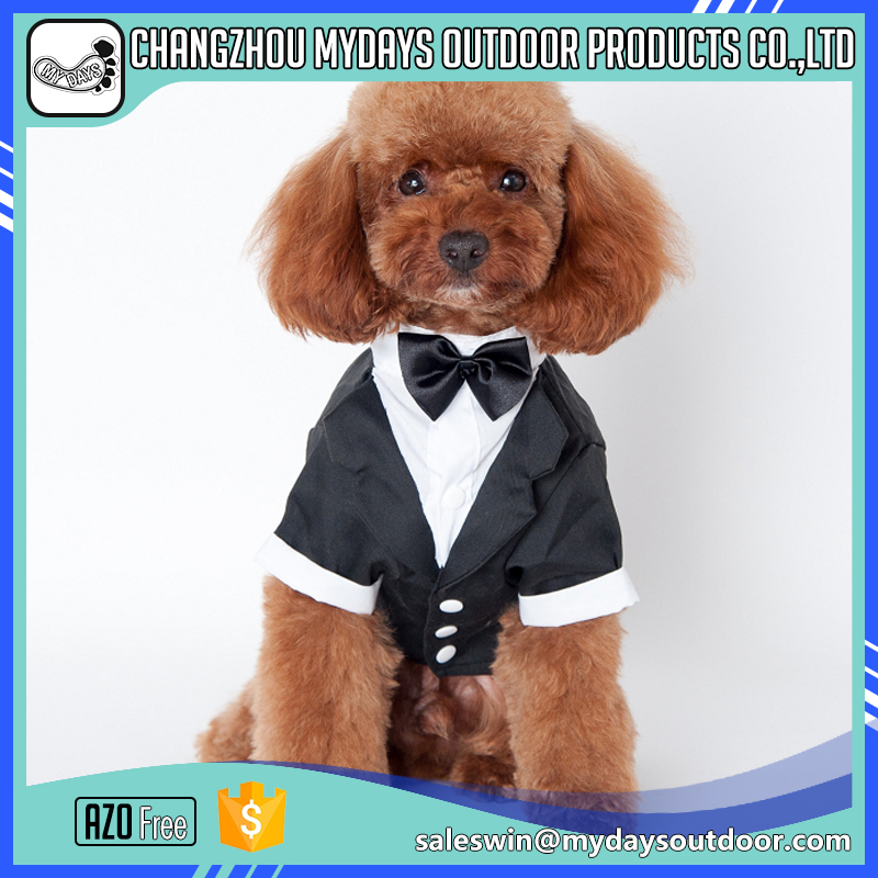 Fast supplier chinese new year gentleman suit dog clothes for medium and large dog