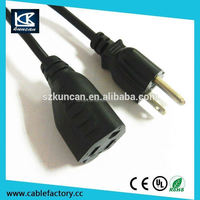 American 2 prong AC Power Cord / indoor extension cord from Shenzhen Kuncan