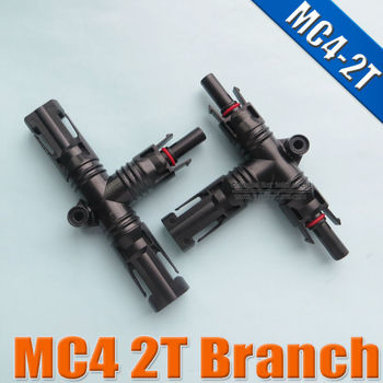 MC4 2T Branch TUV Waterproof IP67 for solar panel cable MC4 multi branch connector
