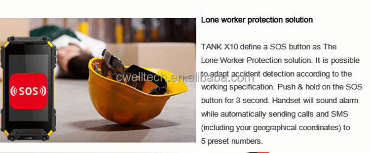 Rugtel Tank X10 IP68 Waterproof Rugged phone