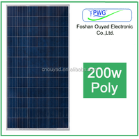 Home solar panel includes solar cell,EVA,tempered glass,frame poly 200W solar panel