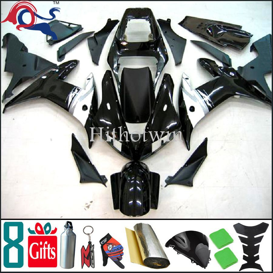 motorcycle Fairing black white YZF-<strong>R1</strong> 2003 2002 Custom Fairing Fit For yamaha YZF <strong>R1</strong> <strong>02</strong> <strong>03</strong>