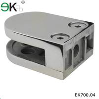 12mm curved friction stainless steel 304 glass clamp