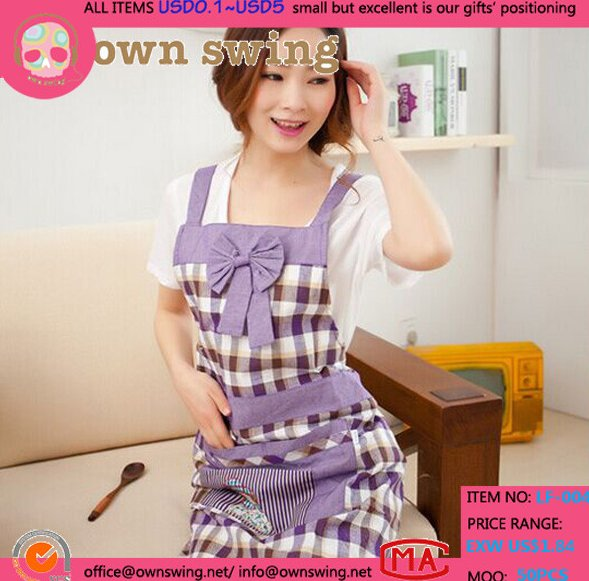 Bowknot Women Apron With Pocket/Girl's Cooking Restaurant Work Custom Kitchen Gardening Home Chef Bib Patterns Aprons