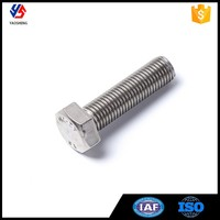 Standard Size Stainless Steel Hex Bolt And Nut