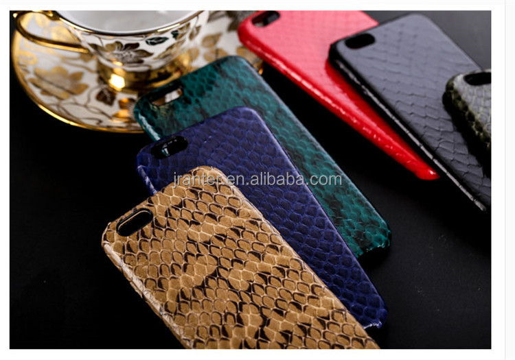 Real Python Leather Cover For Apple Phone 6/7/8/X Case