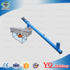 Best price stainless steel small inclined spiral screw conveyor