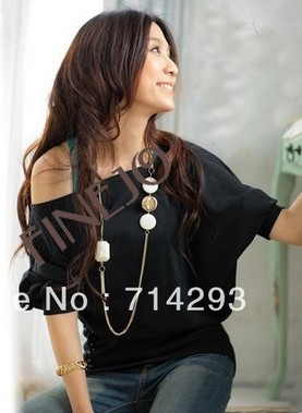 Sexy Trendy Off Shoulder Women T-Shirt Buttons Top Blouse Comfortable Cotton Material plus size 3109