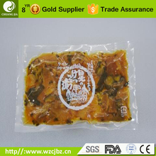 high temperature plastic cooking chill vacuum bag pa cpp coex retort pouch for meat package
