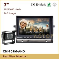 2017 New Best Price China Factory 7 inches LCD Rear View Monitor with Waterproof Night Vision HD Cameras