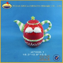Wholesale creative customized Christmas Santa ceramic tea set