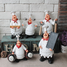 Kitchen table decoration custom polyresin chef figurines