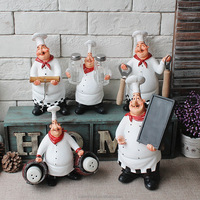 kitchen table decoration custom polyresin chef figurine