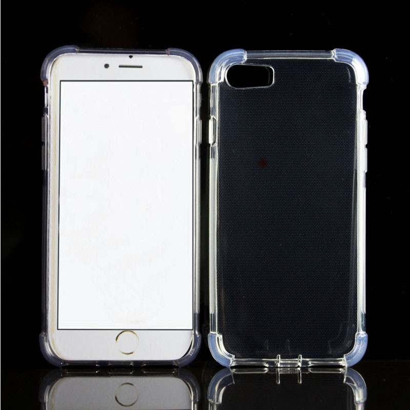 2016 Hotting Transparent Clear Shockproof Corner TPU Gel cover case for iPhone 7