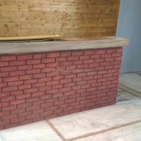 Polyurethane lightweight wall materials faux panels brick
